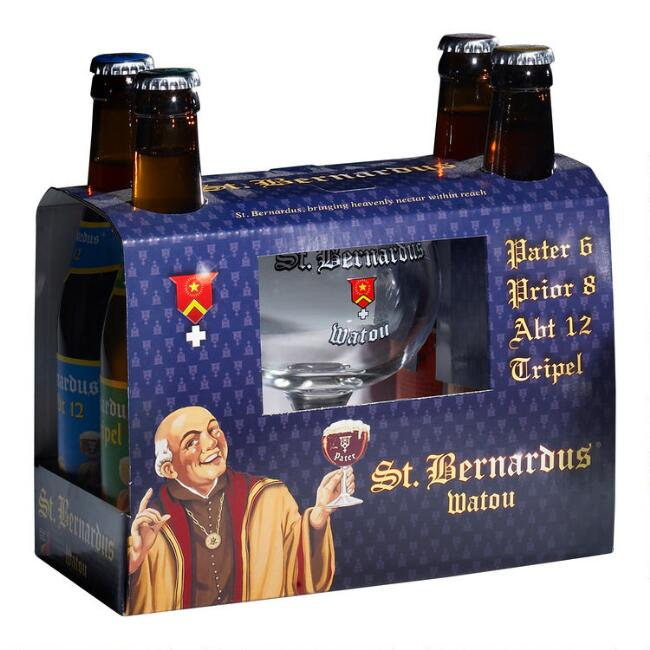 St. Bernardus Variety 4 Pack Gift Set With Glass
