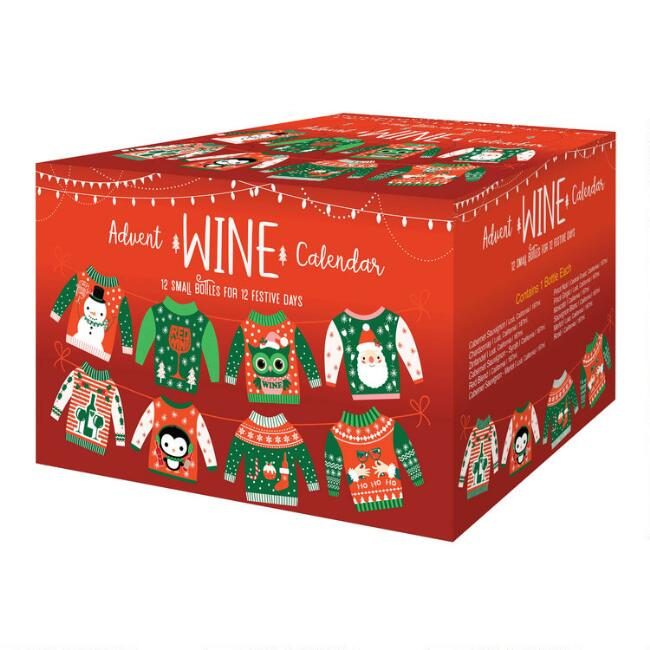 Ugly Sweater Wine Advent Calendar 12 Pack