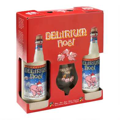Delirium Noel Ale Gift Set With Glass 2 Pack