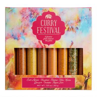 Curry Festival Spice Tube Gift Set 8 Pack