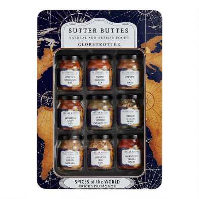 Sutter Buttes Spices of the World Gift Tin 9 Pack