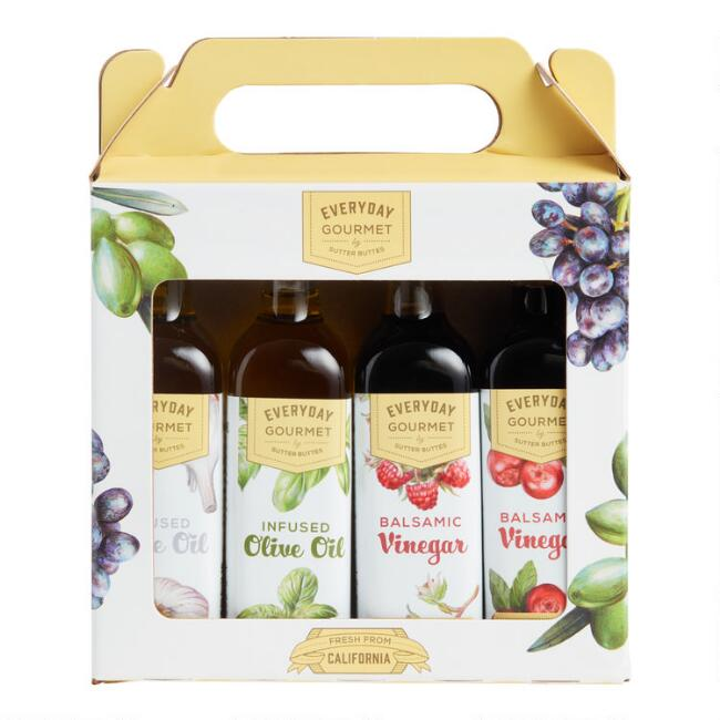 Sutter Buttes Mini Olive Oil and Vinegar Gift Set 4 Pack