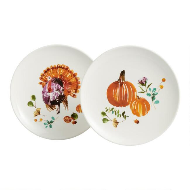 Watercolor Harvest Dinnerware Collection