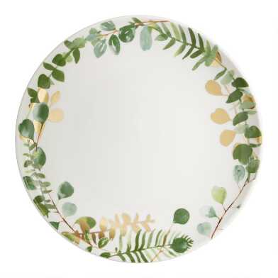 Eucalyptus Salad Plates Set of 4