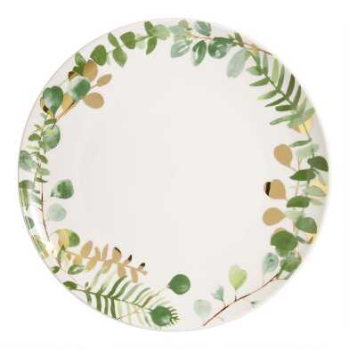 Eucalyptus Dinner Plates Set of 4