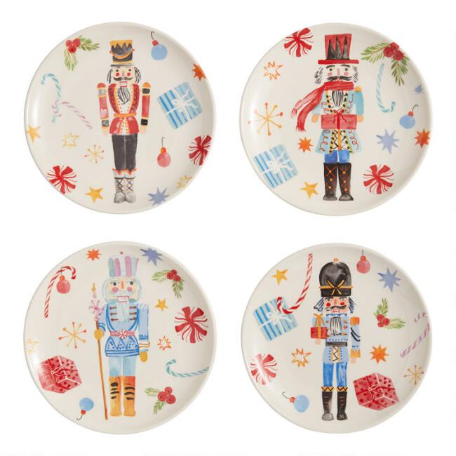 Watercolor Nutcracker Plates 4 Pack