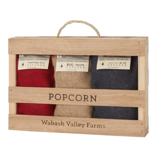 Wabash Valley Farms Popcorn Kernels 3 Piece Gift Crate