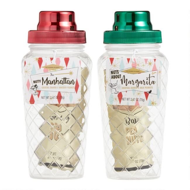 Cocktail Shaker With Peanuts Set of 2