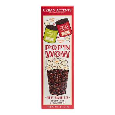 Urban Accents Pop'N Wow Spicy Popcorn and Seasonings Set