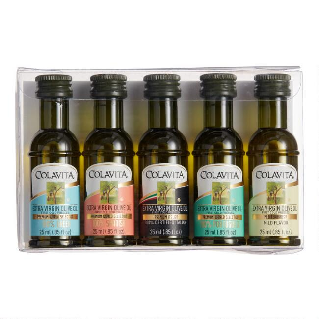 Colavita World Mini Olive Oils Gift Set 5 Pack