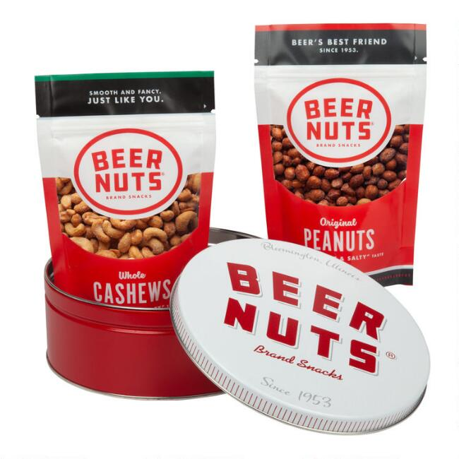 Beer Nuts Peanuts and Cashews Gift Tin