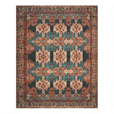 Coral Persian Style Zara Area Rug