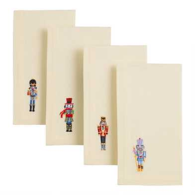 Watercolor Nutcracker Napkins 4 Pack