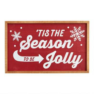 Tis the Season to be Jolly Wood Sign