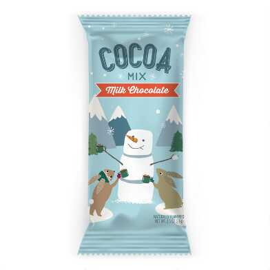 Santa & Friends Chocolate Hot Cocoa Mix Packet Set of 12