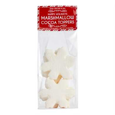 Snowflake Marshmallow Hot Cocoa Toppers 6 Count
