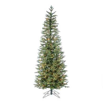 Narrow Pre Lit LED Artificial Natural Cut Jackson Pine Tree