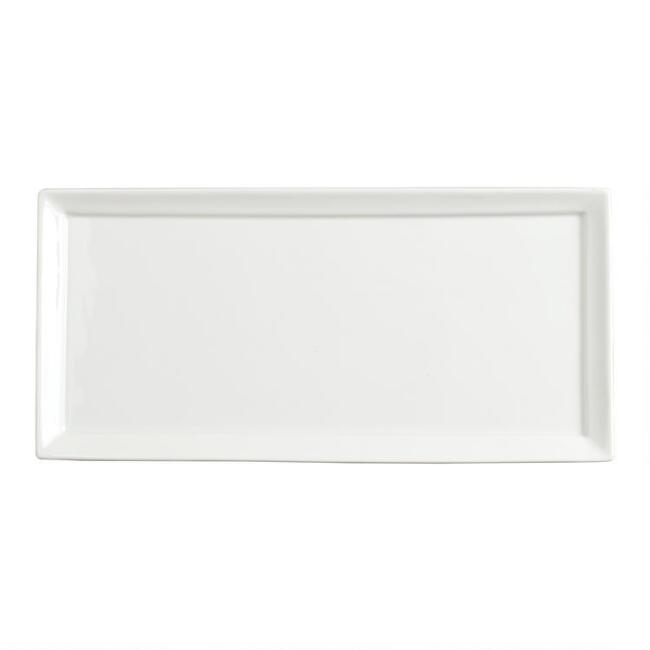 Rectangular White Porcelain Tasting Plates Set Of 4