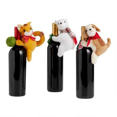 Holiday Animal Bottle Topper Collection