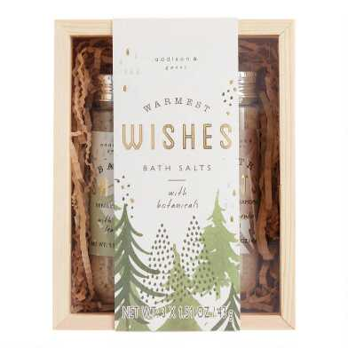 A&G Warmest Wishes Bath Salts 3 Piece Gift Box