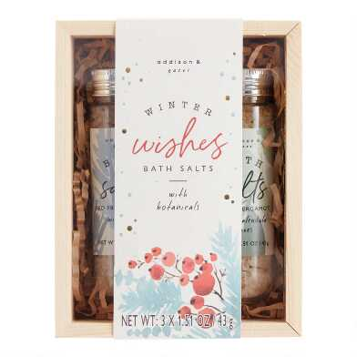 A&G Winter Wishes Bath Salts 3 Piece Gift Box