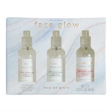 A&G Face Glow Facial Mist 3 Piece Gift Set