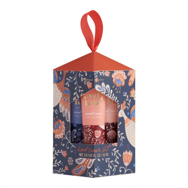 A&G Lovely Folk Hand Cream 3 Piece Gift Set