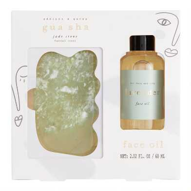 A&G Jade Gua Sha Facial Massage Gift Set
