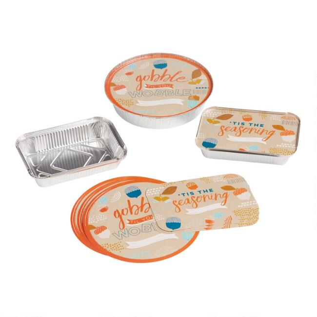 4 Pack Thanksgiving Bake Away Pans and Lids Set of 2