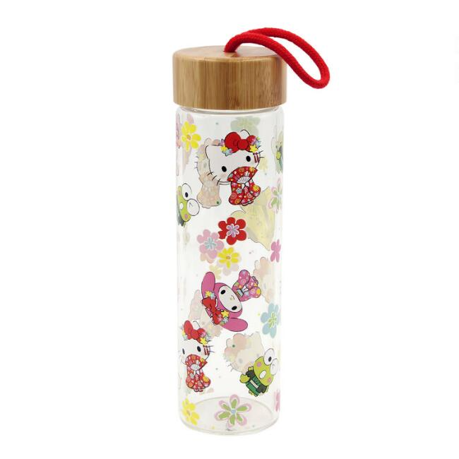 Hello Kitty and Friends Tokyo Glass Water Bottle