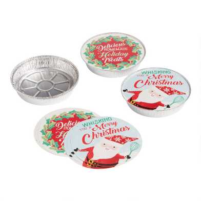 4 Pack Round Holiday Bake Away Pans Set of 2