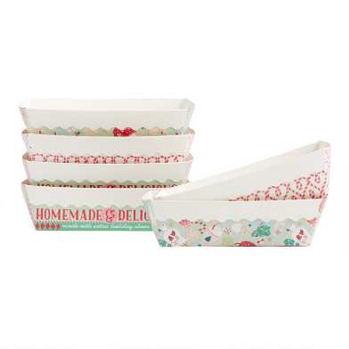 Holiday Paper Loaf Pans 6 Pack