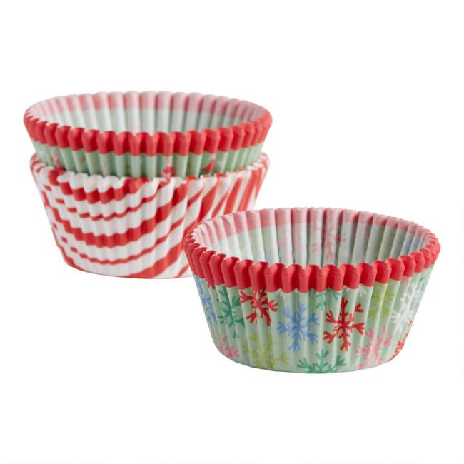 Holiday Cupcake Liners 75 Count