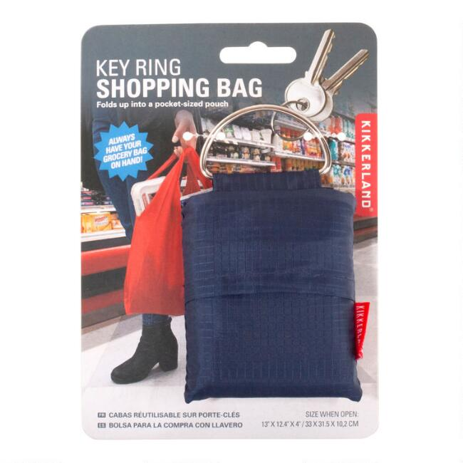 Kikkerland Key Ring Folding Shopping Bag Set of 2