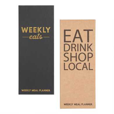 Weekly Meal Planner and Shopping List Notepads Set of 2