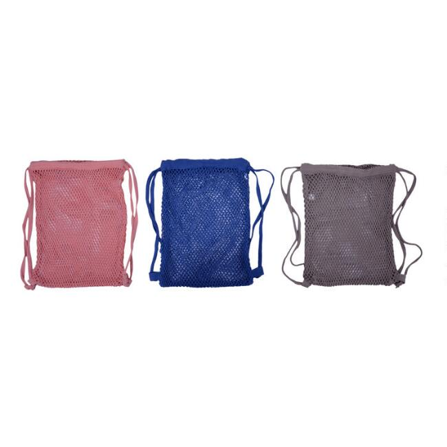 Cotton Fishnet Market Bag Backpack Set of 3