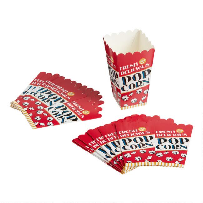Fresh and Delicious Paper Popcorn Boxes 12 Pack