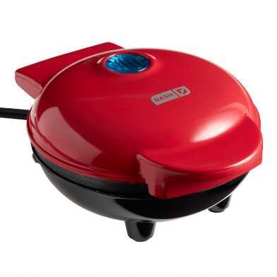 Dash Red Mini Nonstick Waffle Maker