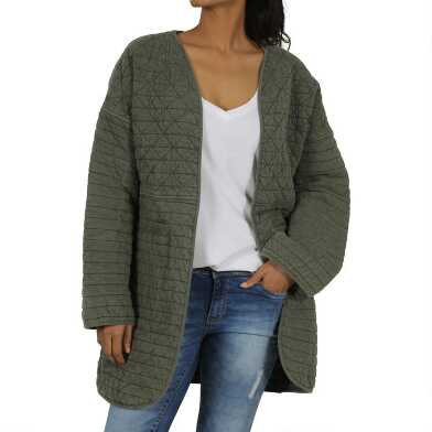 Olive Green Joyce Quilted Jacket