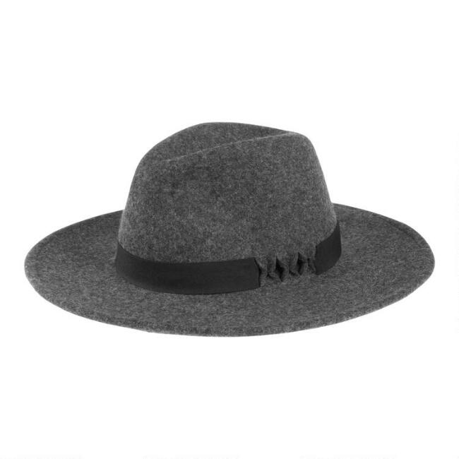 Gray Wool Cutout Rancher Hat