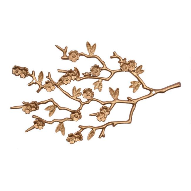 Gold Branch Wall Jewelry Holder
