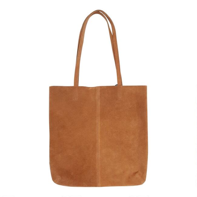 Brown Relaxed Suede Tote Bag