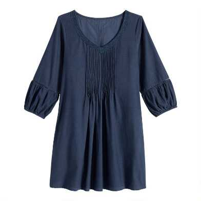 Navy Blue Corduroy Jackie Dress