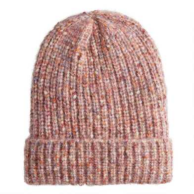 Blush Multicolor Space Dyed Beanie