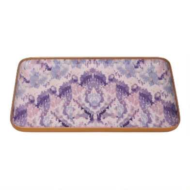 Purple, Blush And Ivory Abstract Mineral Wave Trinket Dish
