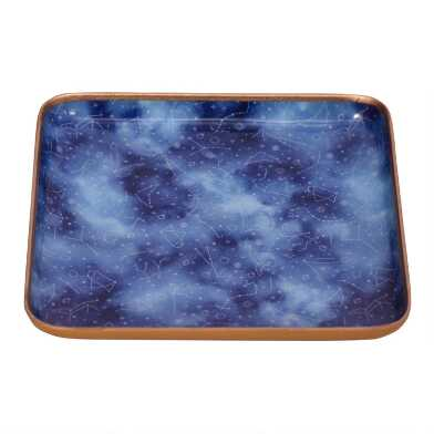 Blue Starry Night Constellation Trinket Dish