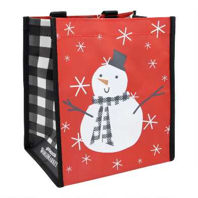 Small Farmhouse Snowman Tote Bags Set Of 2