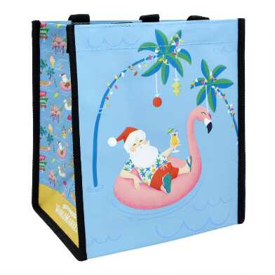 Small Pool Party Santa Tote Bags Set Of 2