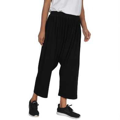 Black Harem Lounge Pants With Pockets
