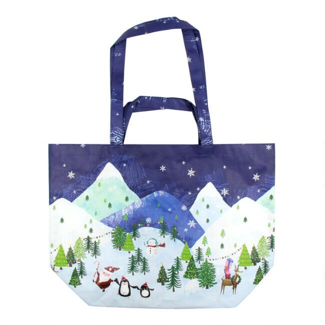 Large Advent Holiday Tote Bag